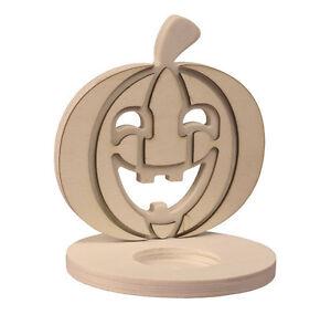Halloween Basteln Holz.Details Zu Teelichthalter Zum Bemalen Kürbis Halloween Basteln Basteln Mit Holz