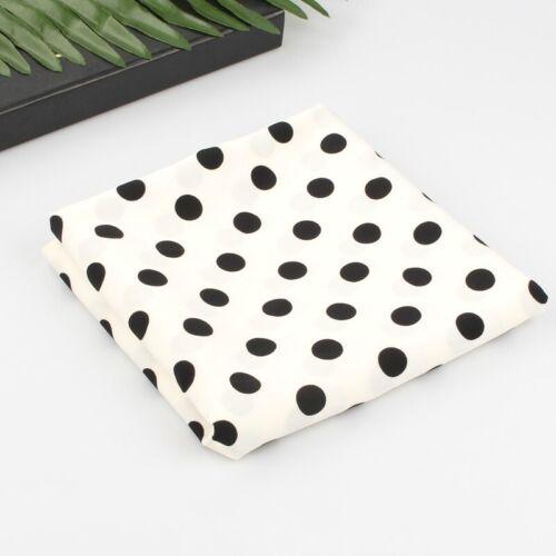 Spots Polka Dots Fabric Chiffon Material DIY for Dress Blouse 100*150cm Costume