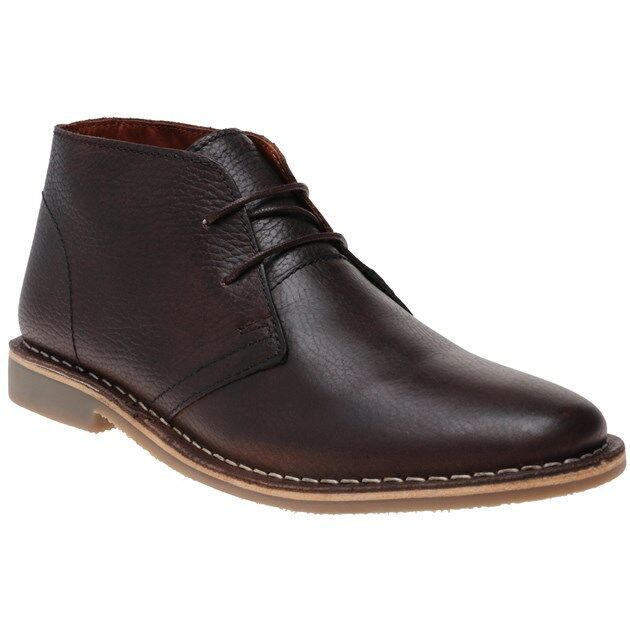 New Mens Red Tape Brown Gobi Leather Boots Chukka Lace Up