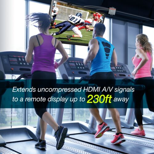 SIIG HDBaseT HDMI 2.0 Extender 4K Ultra HD Over CAT5e//6 w// Bi-directional IR
