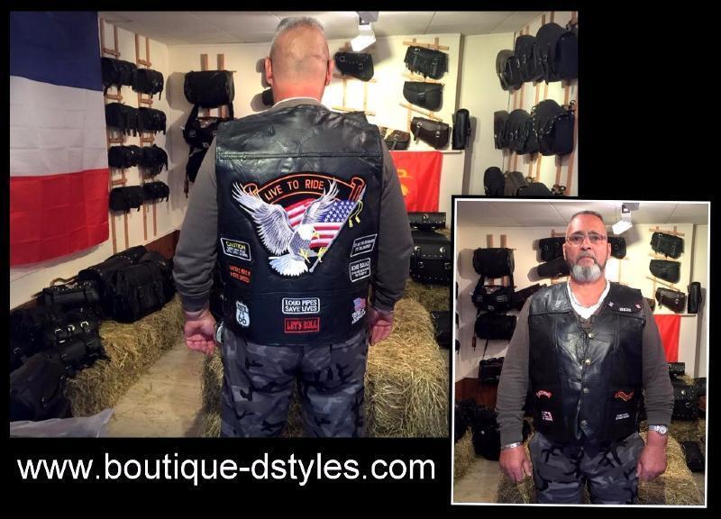 Gilet giacca pelle   Aigle   Live A Ride   - S a 7XL - Per bikers paese