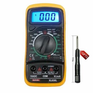 Digital dc ac multimeter ammeter ohm volt meter voltmeter tester image is loading digital dc ac multimeter ammeter ohm volt meter fandeluxe Images