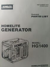 Homelite Jacobsen Hg1400 Gasoline Generator Parts Manual Survival Camping