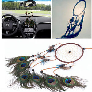 Father-039-s-Day-gift-22-inch-Dream-Catcher-Peacock-Feather-Car-Hanging-Room-Wall-De