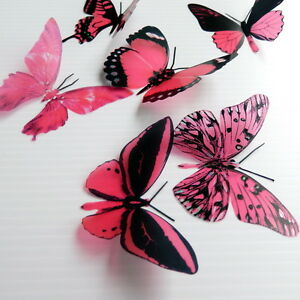 50-Pack-Butterflies-Watermelon-5-to-6-cm-Cakes-Weddings-Crafts-Cards