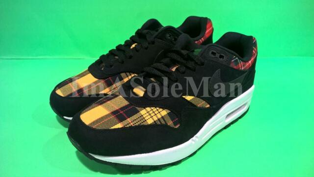Shoes Max Black Air Plaid 1 Size Womens Yellow 8 Red 001 Tartan Se Av8219 Nike cLqRAj354