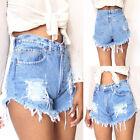 New Women Skinny Short Jeans Denim Shorts Holes Short Pants Plus Size S-2XL