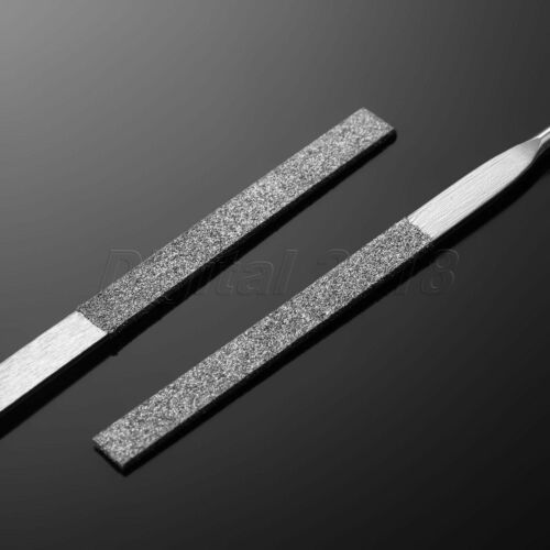 140mm Metal Diamond Needle File Taper Flat Round Square Red Plastic Handle