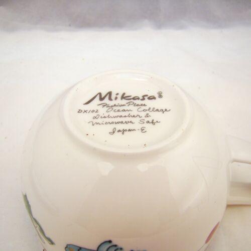 Mikasa Fashion Plate OCEAN COLLAGE DX012 Cup /& Saucer Set EXCELLENT s