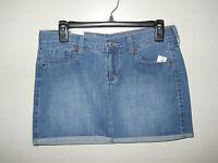 Old Navy Ladies Jean/denim Skirt Size 4 Distressed Wash Short Skirt