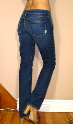 Lavaggio Vintage Snello Taglio 24 In Blu Dritto Lisci Jeans Rich skinny Luna fzaqvv