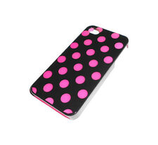 NEW BLACK AND PURPLE POLKA DOT APPLE IPHONE 4 4S CASE SUPER FAST SHIPPING