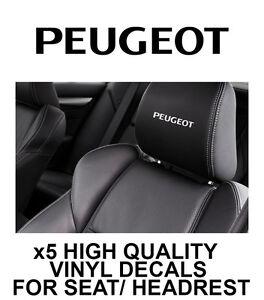 PEUGEOT head// seat decal.