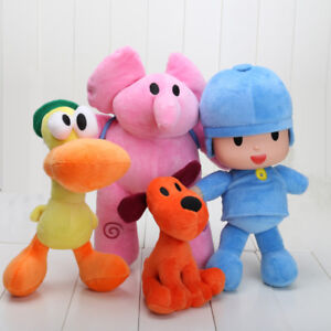 4pcs-Doll-Pocoyo-Pato-One-Elly-Stuffed-Plush-Bandai-Loula-Figure-Kids-Toy-Gift