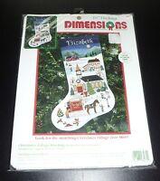Dimensions Christmas Village Stocking 16 Charles Wysocki Cross Stitch Kit 8471