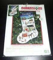 Dimensions Christmas Village Stocking 16 Charles Wysocki Cross Stitch Kit 8471
