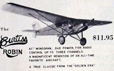 """Vintage CURTISS ROBIN Flyline Models 41"""" RC Model Airplane PLAN + Article"""