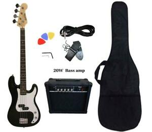 Christmas Gift ! Bass Guitar 20W Amp Package Black for Beginners PB87120 Canada Preview