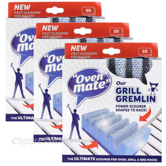 Oven Mate Microwave Cleaning Sponge: 6 X Oven Mate Cooker Shelf BBQ Grill Gremlin Cleaner