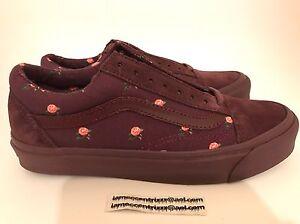 6539fbd74f Vans Undercover OG Old Skool LX Floral Small Flower Bordeaux Size 7 ...
