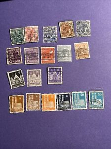 GERMANY AMERICAN BRITISH OCCUPATION ZONE, 19 Pcs Mix Stamps,see Photos