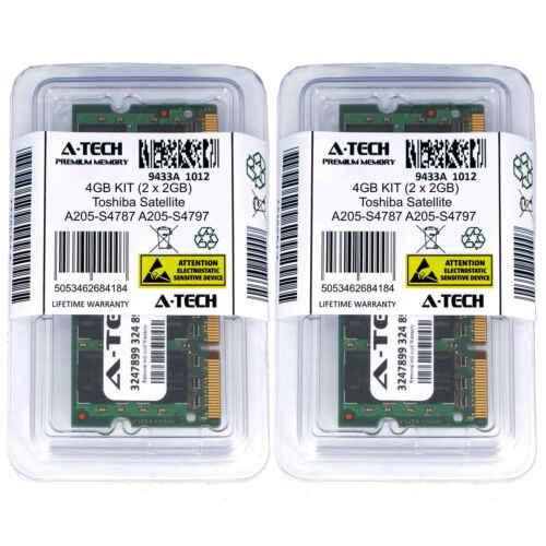 4GB KIT 2 x 2GB Toshiba Satellite A205-S4787 A205-S4797 A205-S5853 Ram Memory