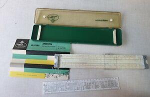 vintage faber castell slide rule 2/83 novo-duplex with