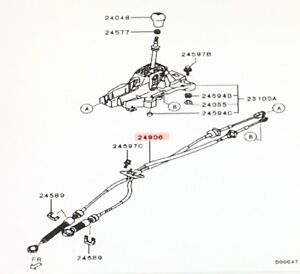 Details about Genuine Mitsubishi NEW Manual Transmission Stick SHIFT on