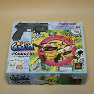 Namco-Guncon-GunBullet-Controller-Official-Sony-PlayStation-SLPS-00929-with-CD