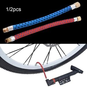 Schrader Bicycle Pumps Tube Pipe Cord Bike Hose Adapter Pump Extension Hose