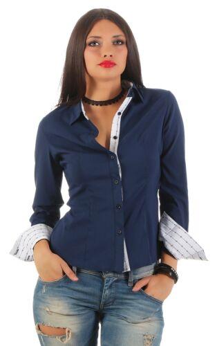 11248 Langarm Businessbluse Bluse Hemd Business Hemdbluse elastischem Stretch