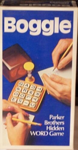 BOGGLE  PARKER BROTHERS HIDDEN WORD GAME VINTAGE 1976