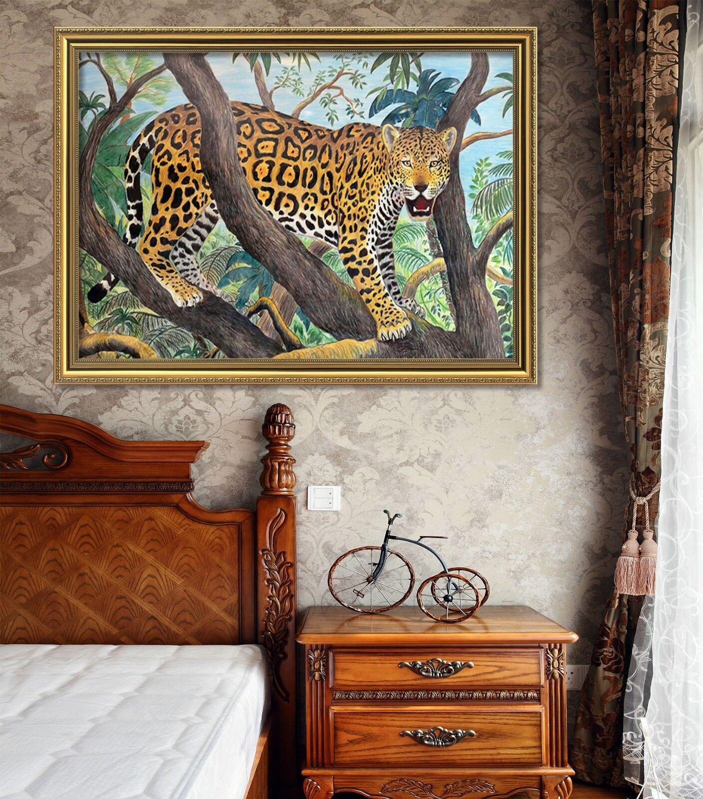 3D Tree Tiger 523 Framed Poster Home Decor Print Painting Art AJ WALLPAPER