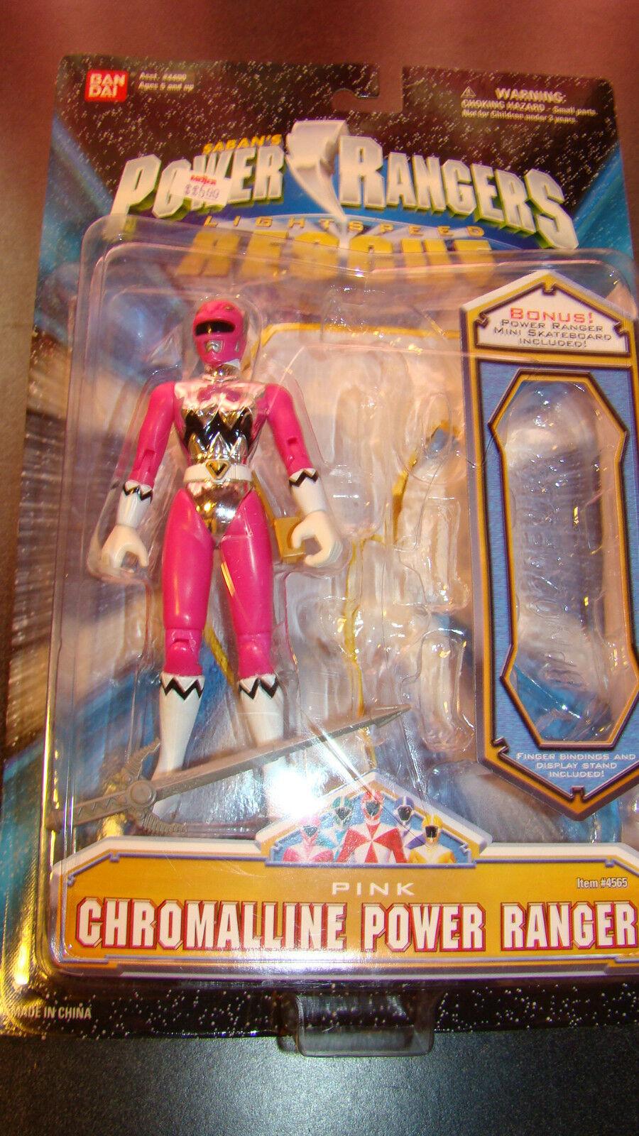 Power Power Power Rangers Lighspeed Rescue Pink Chromalline Rangerr RARE 03f9d2