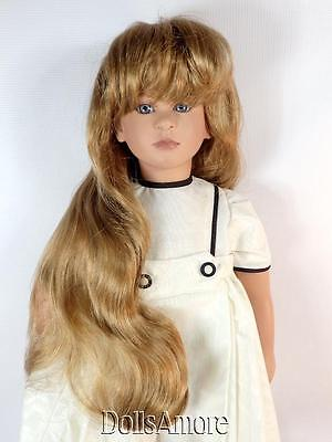 DOLL WIG  BROWN LONG WAVY FITS VINTAGE AND MODERN DOLLS 8//9/""