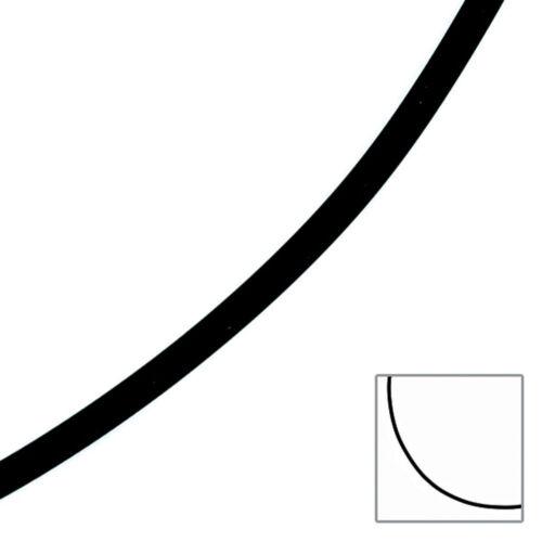 COLLANA Caucciù Nero con 333 GIALLO 3 mm 45 cm catena di gomma