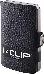 I-CLIP Original Silver Pure Black, Portafoglio, Wallet