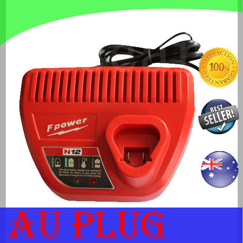 Battery Charger For Milwaukee M12 12V Li-ion 4811-2410 C12 B C12IW C12ID drill