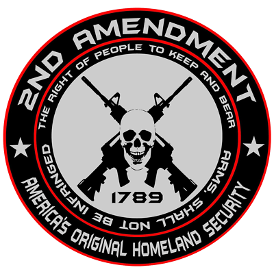 2 nd Amendment American Flag Truck Decals Window car Decal Sticker gun Rights