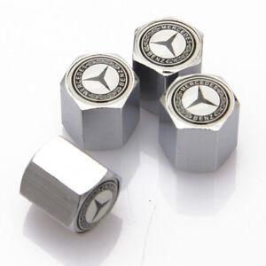 Universal Car Auto Tyre Valve Caps Stems Tire Dust Covers Fit For Mercedes-Benz
