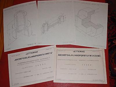 Gebäudebausätze Vintage Original Architektonisch Mechanischer Zeichnungen 591ms Charles