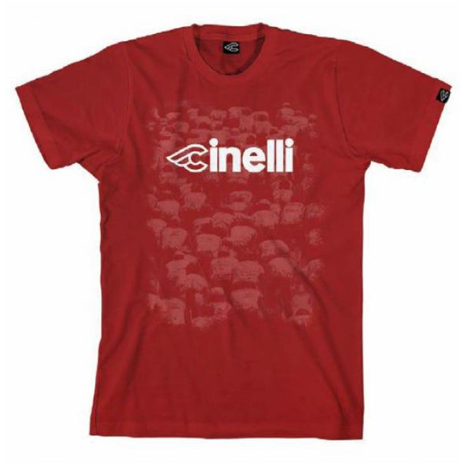 Cinelli T-Shirt Italo Gruppo Kardinal red Original Merchandise Shirt Qualität