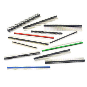 1.27/2.0/2.54mm Male Pin Header Pitch Strip Connector Solder Length 40P 50P