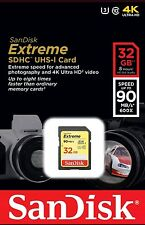 32GB SANDISK EXTREME 90MB/S 4K SDHC SD MEMORY CARD FOR CAMERA CAMCORDER UK