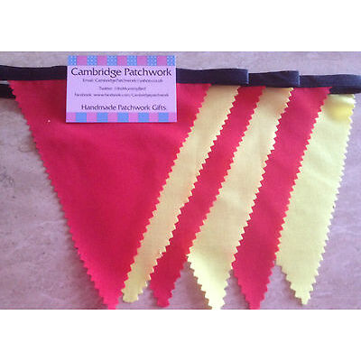 Spanish, Spain, Chinese New Year Red & Yellow Fabric  Bunting,