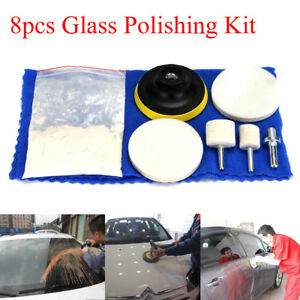 Abrasive Tools 70g Cerium Oxide Windscreen Scratch Remover Glass Polishing Kit Pad Wheel Tools