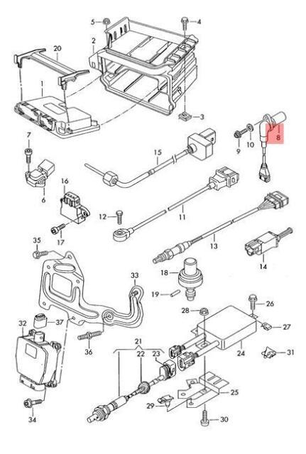 genuine crankshaft pulse sensor vw beetle golf r32 gti rabbit 030957147aa  for sale online   ebay  ebay