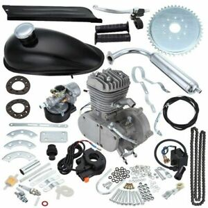 Hot-Sale-80cc-2-Stroke-Motor-Engine-Kit-Gas-for-Motorized-Bicycle-Bike-Silve-New