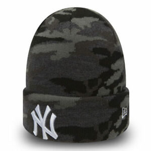 59f76ddc8a2 New Era MLB new York Yankees Camouflage Knit Skull Cap Cuff Fitted ...