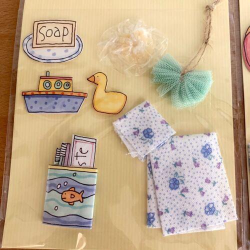 3 Sue Dreamer Self Adhesive Doo-Dads Scrapbook 3D Embellishments Summer Vacation